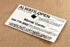 Always Open Business Card