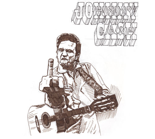 Johnny Cash Drawing