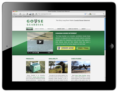 Goose Guardian Website - www.gooseguardian.com