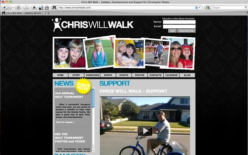 Chris Will Walk Website