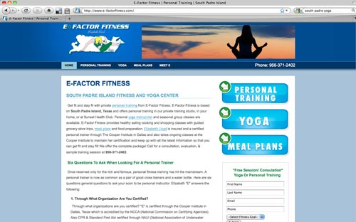 E-Factor Fitness Website