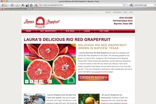 Laura's Grapefruit Website